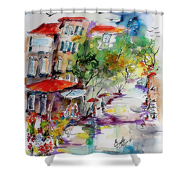 Provence Flower Market Summer Rain Shower Curtain