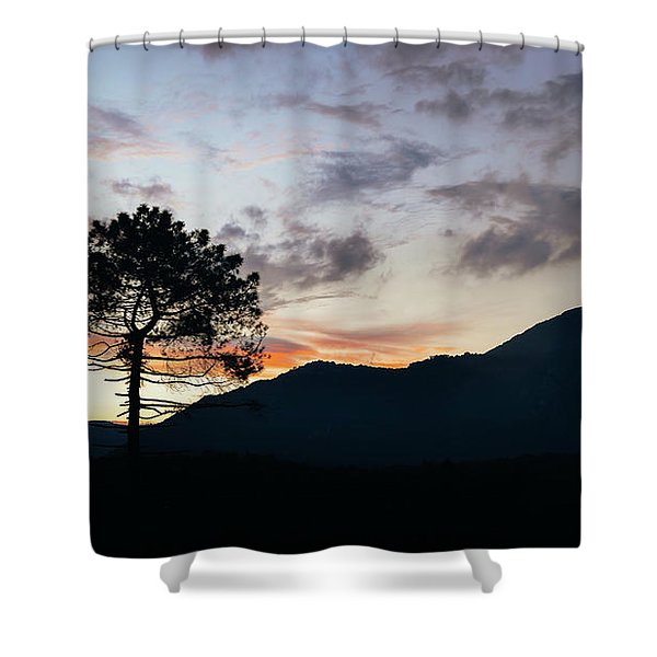 Provence, France Sunset Shower Curtain
