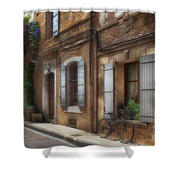 Provence Street Scene Shower Curtain
