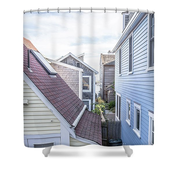 Provincetown Alley Cape Cod Shower Curtain