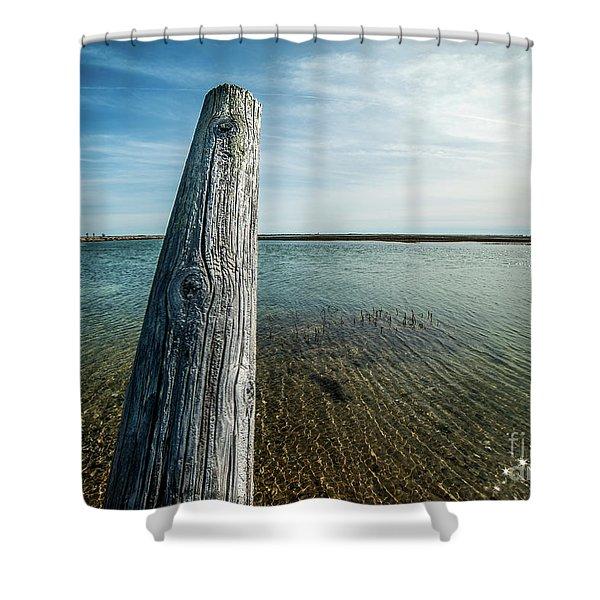 Provincetown Breakwater #2 Shower Curtain