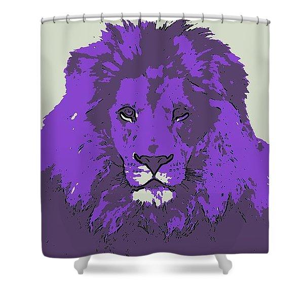 Pruple King Shower Curtain