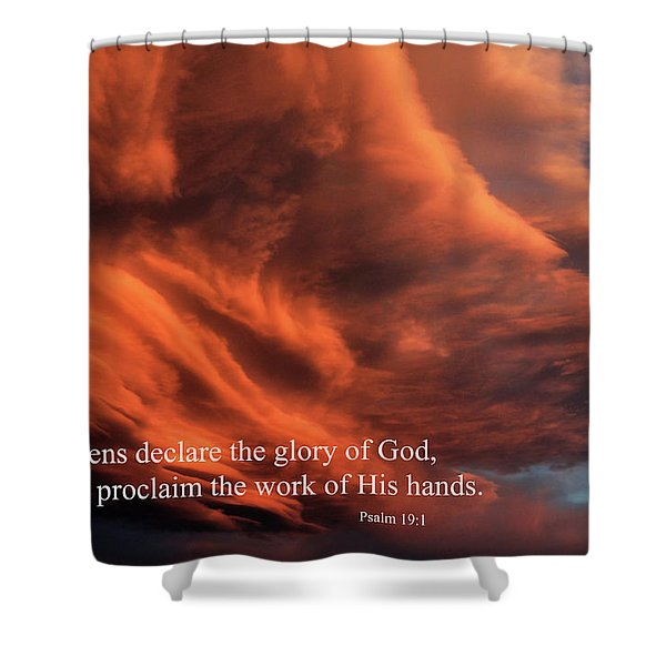 Psalm 19-1 Shower Curtain