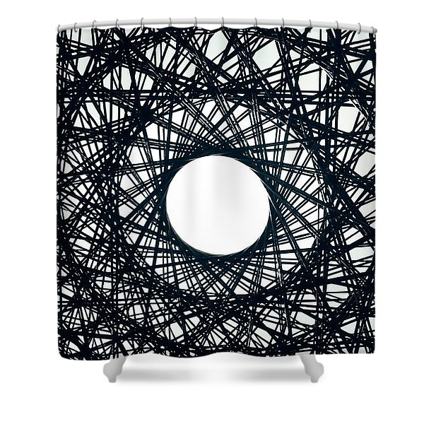 Psychedelic Concentric Circle Shower Curtain