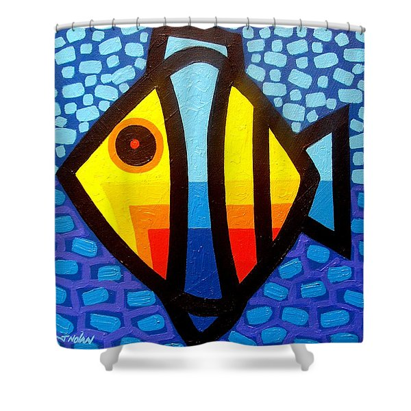 Psychedelic Fish Shower Curtain