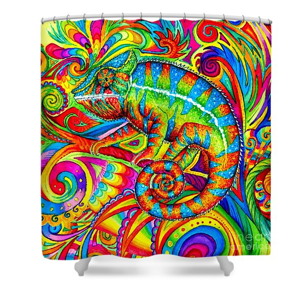 Psychedelizard Shower Curtain