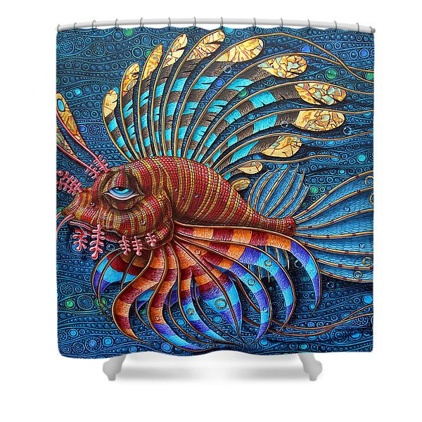 Pterois Shower Curtain