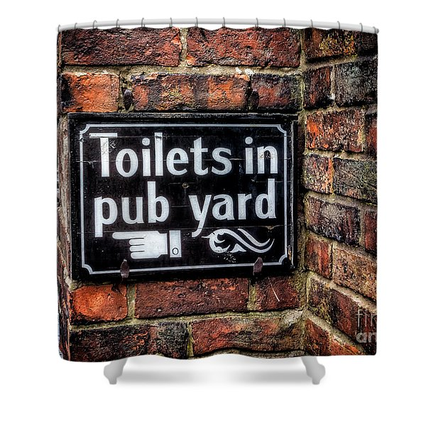 Pub Sign Shower Curtain
