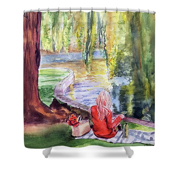 Public Garden Picnic Shower Curtain