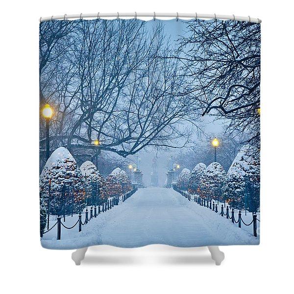 Public Garden Walk Shower Curtain