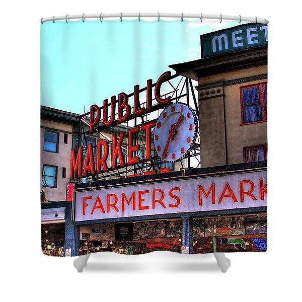 Public Market II Shower Curtain