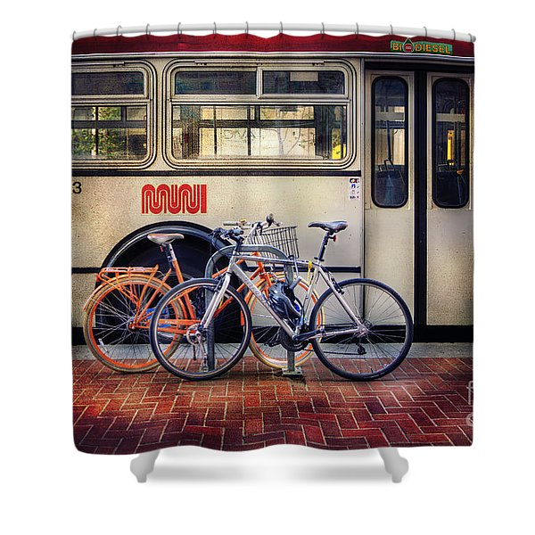 Public Tier Bicycles Shower Curtain