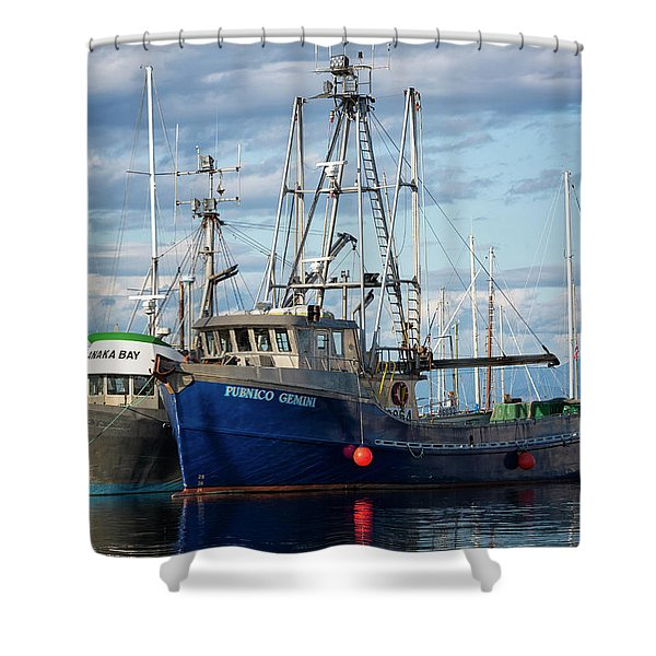 Shower Curtain featuring the photograph Pubnico Gemini by Randy Hall