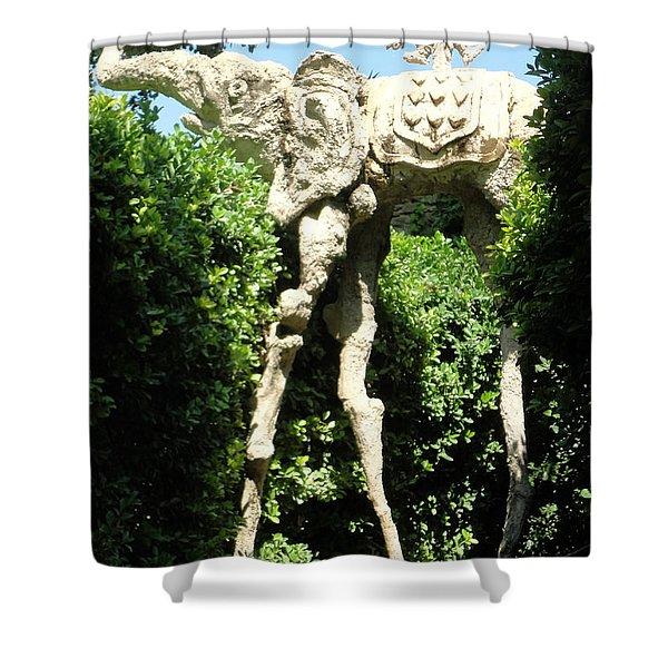 Pubol Spain Gala Castle Garden Shower Curtain