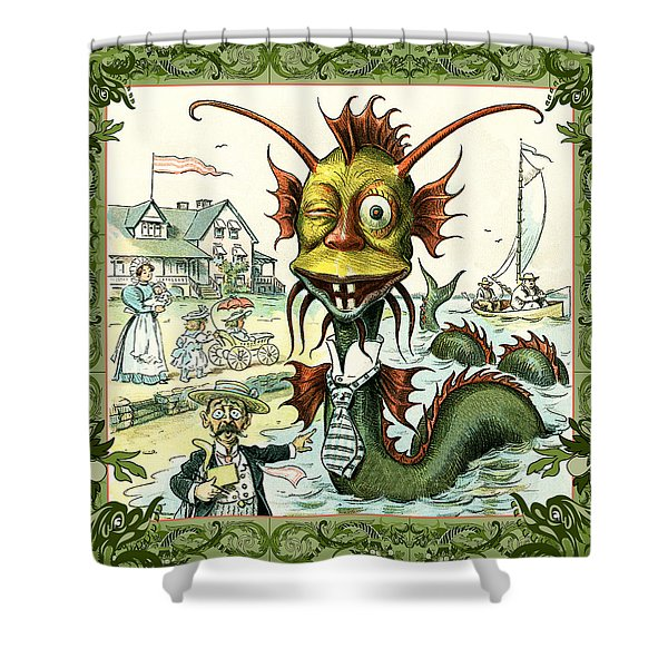 Shower Curtain featuring the photograph Card Puck Serpent by Robert G Kernodle