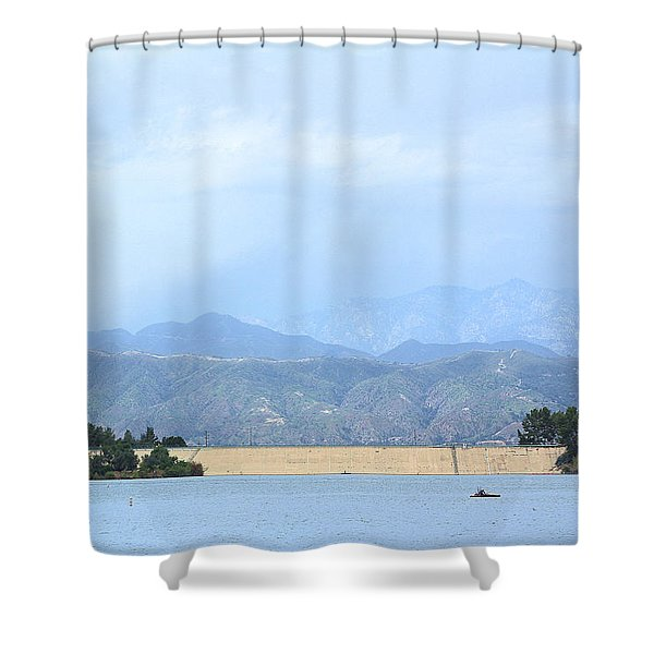 Puddingstone Reservoir Shower Curtain