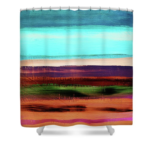 Pueblo 2- Art By Linda Woods Shower Curtain