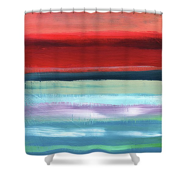 Pueblo- Abstract Art By Linda Woods Shower Curtain