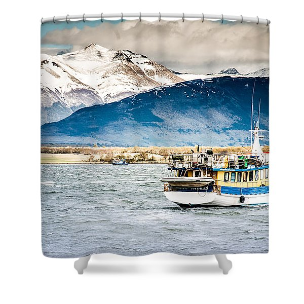 Puerto Natales Patagonia Chile Shower Curtain