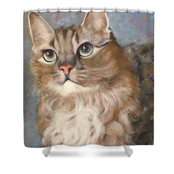 Puff  Ball Shower Curtain