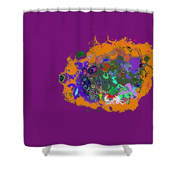 Puff Of Color Shower Curtain