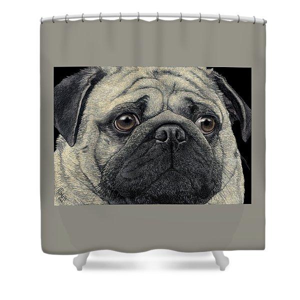 Pugshot Shower Curtain