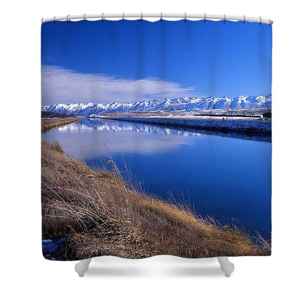 Pukaki Canal  Shower Curtain