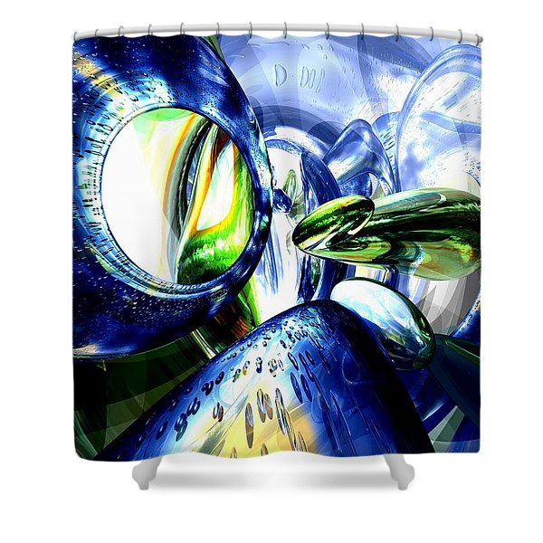Pulse Of Life Abstract Shower Curtain