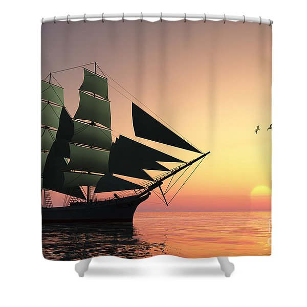 Pulse Of Life Shower Curtain