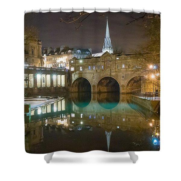 Pulteney Bridge, Bath Shower Curtain