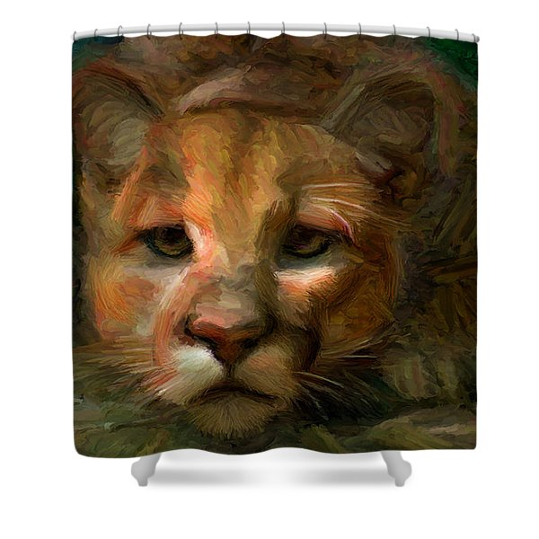 Puma 1 Shower Curtain