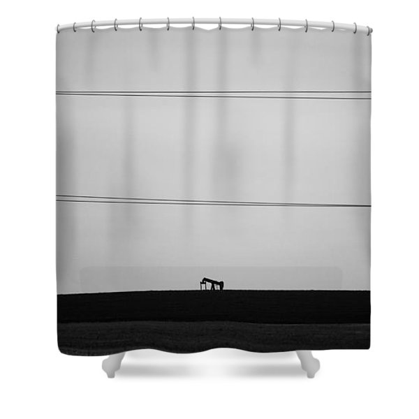 Pump Jack Shower Curtain
