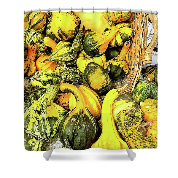 Pumpkin Family Shower Curtain