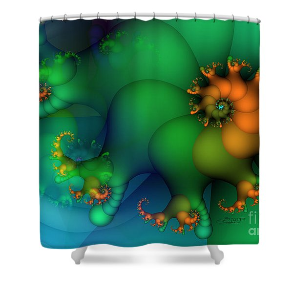 Pumpkin Garden Shower Curtain by Jutta Maria Pusl