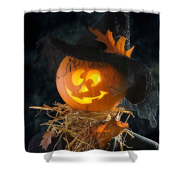 Pumpkin Head Shower Curtain