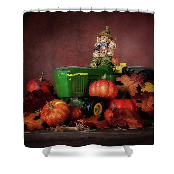 Pumpkin Patch Whimsy Shower Curtain