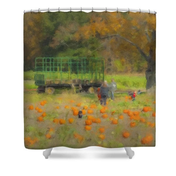 Pumpkins At Langwater Farm Shower Curtain