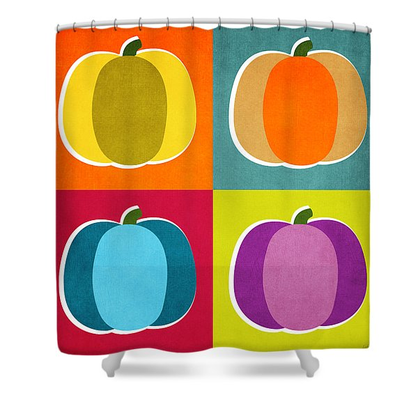 Pumpkins- Pop Art By Linda Woods Shower Curtain