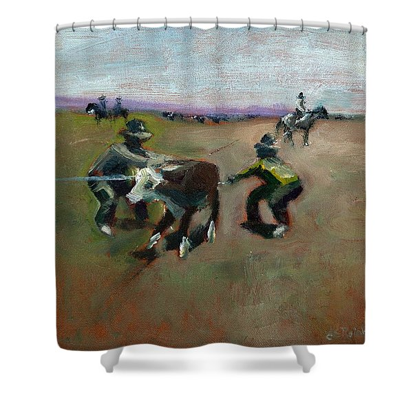 Punchin Doggies Shower Curtain