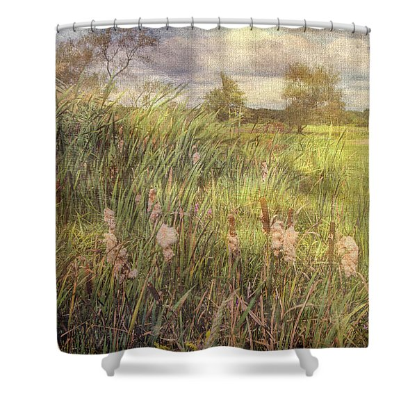 Cat O Nine Tails Going To Seed Shower Curtain