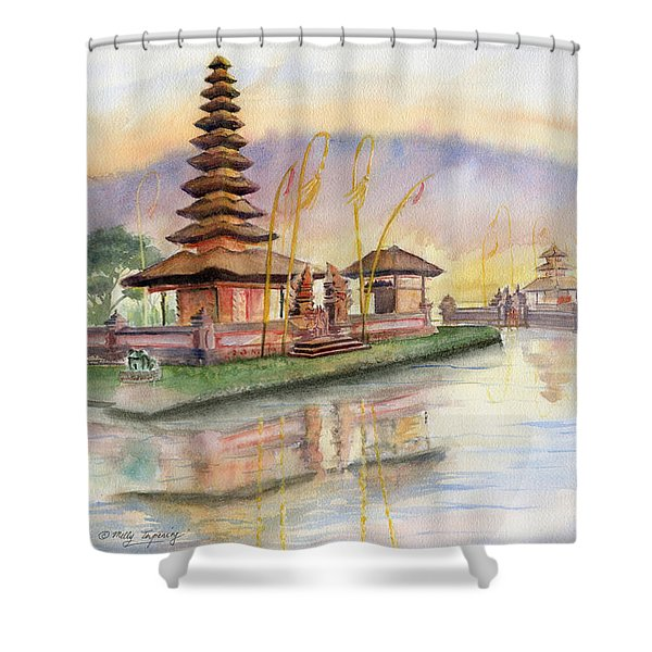 Pura Ulan Danu Bali Shower Curtain