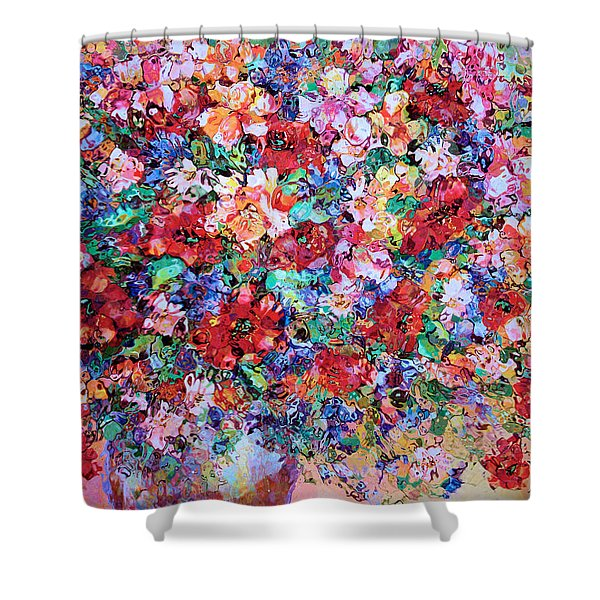 Pure Bliss Bouquet Shower Curtain