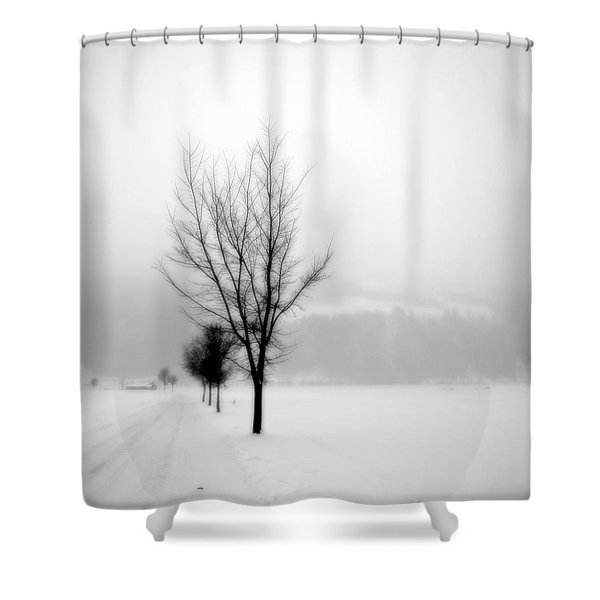 Pure White II Shower Curtain