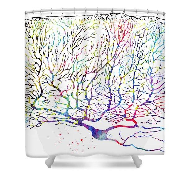 Purkinje Neuron 16 Shower Curtain
