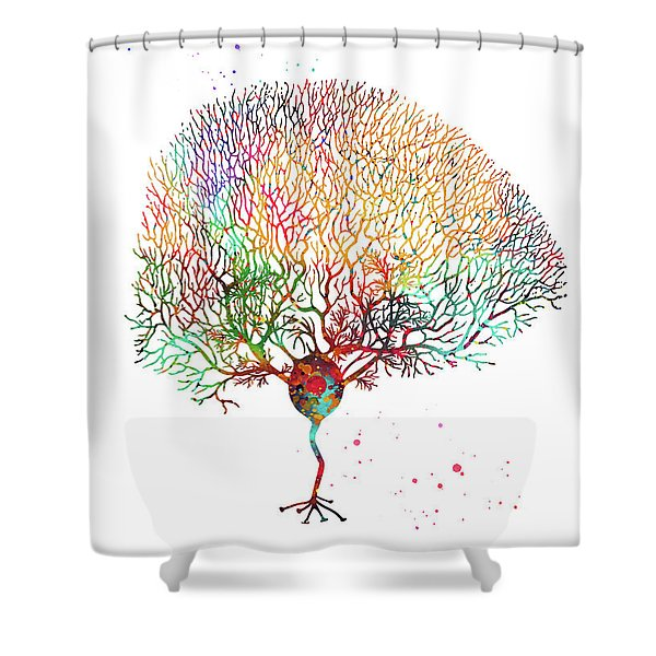 Purkinje Neuron  Shower Curtain