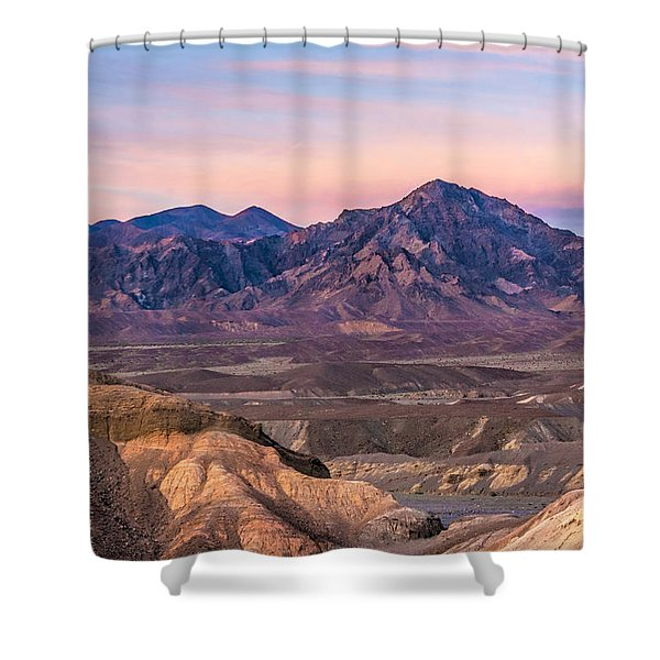 Purlpleish Desert Mountains Shower Curtain