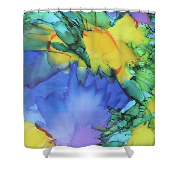 Purple Bird Of Paradise Shower Curtain