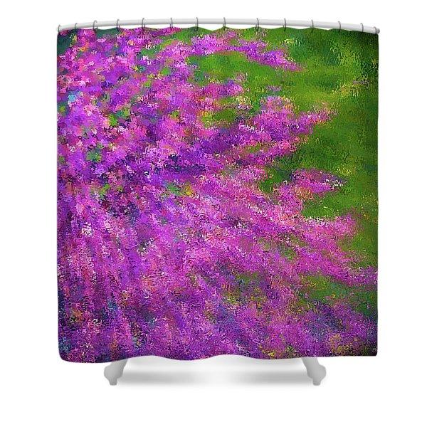 Purple Bush Shower Curtain