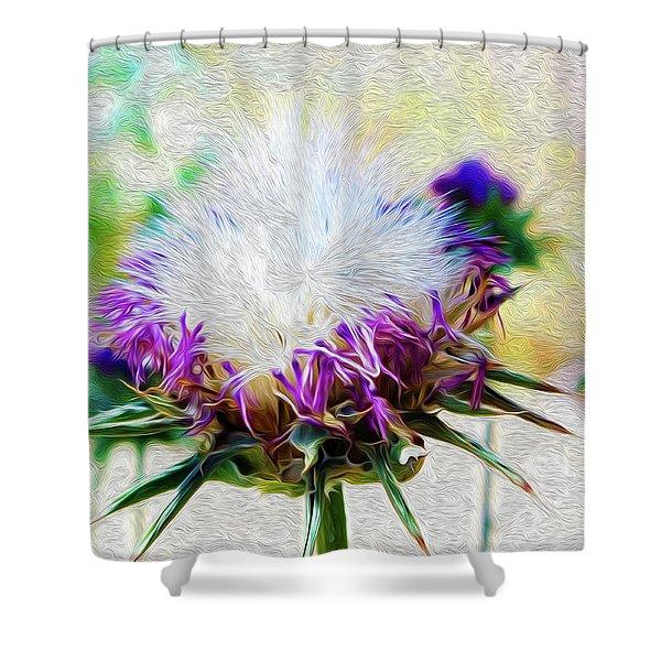 Purple Chaparral  Shower Curtain