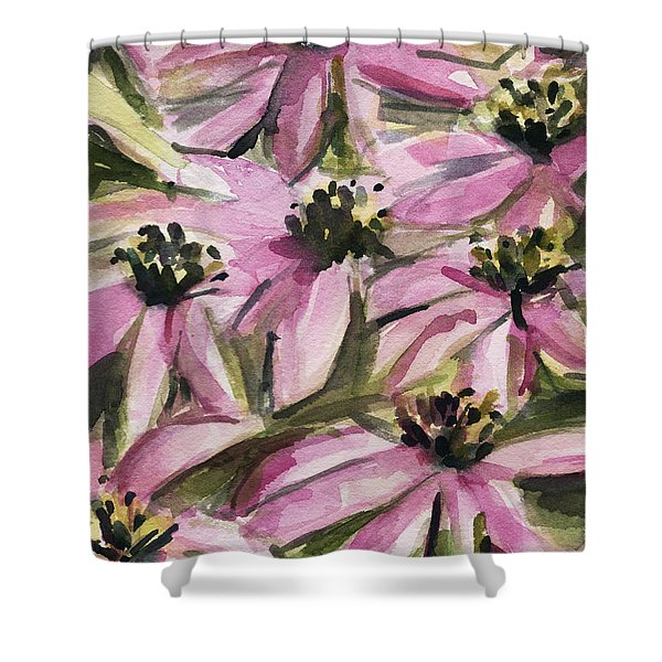Purple Coneflowers Shower Curtain